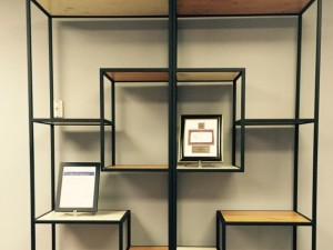 Metal and Wood Display Shelve